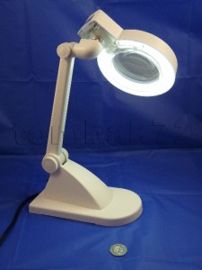 Desktop illuminated magnifier magnifying glass lamp for Craft lamp with magnifier