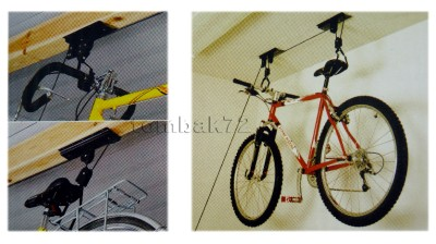 new fahrrad deckenlift speichersystem pulley aufzug h ngeleiste w haken. Black Bedroom Furniture Sets. Home Design Ideas
