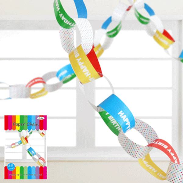 Details about New Paper Chains Hanging Decoration Birthday Party ...