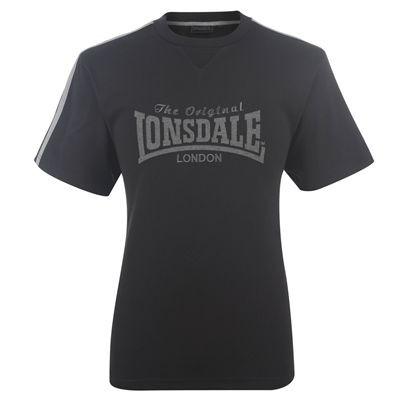 lonsdale large logo mens gym boxing running training t