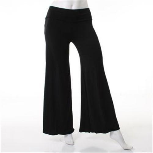 Misses-Size-S-M-L-Long-Boho-JERSEY-PALAZZO-PANTS-Wide-Leg-Comfortable-Stretch
