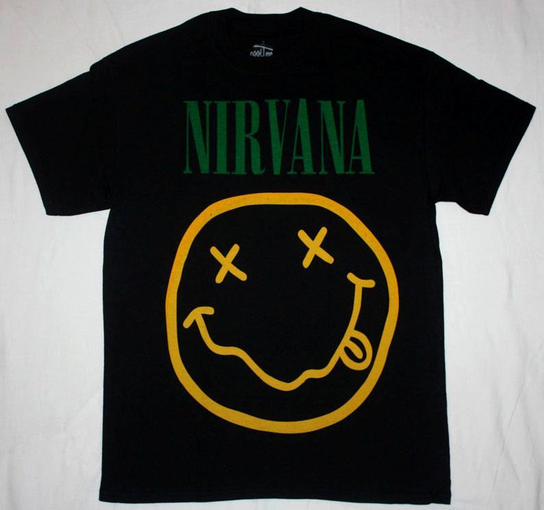 Nirvana Smile Kurt Cobain Grunge Settle Pearl Jam Soundgarden New Black T Shirt