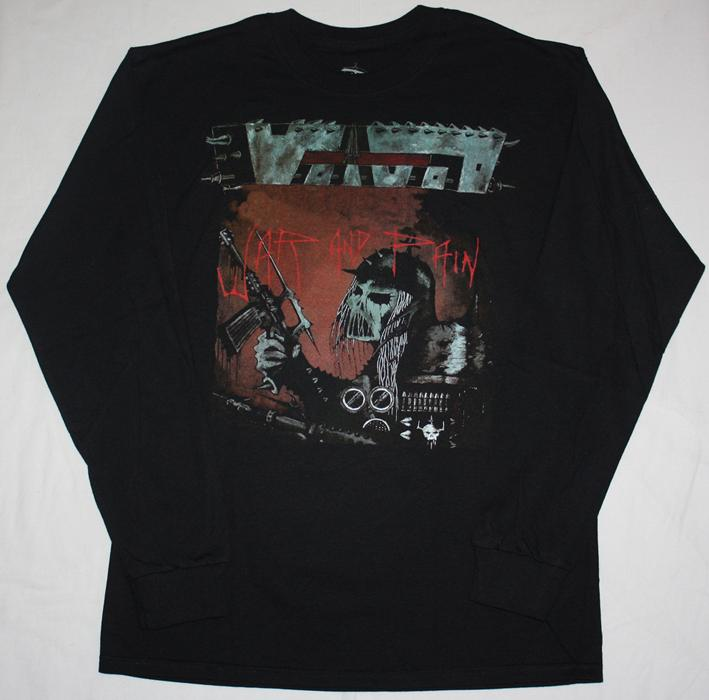 Voivod war and pain 84 death thrash metal venom s xxl long for Xxl long sleeve t shirts