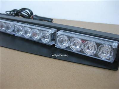 split mount deck dash lightbar 32 leds visor light emergency ebay. Black Bedroom Furniture Sets. Home Design Ideas