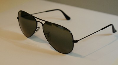 ray ban black mirrored aviators  14mm  3n black