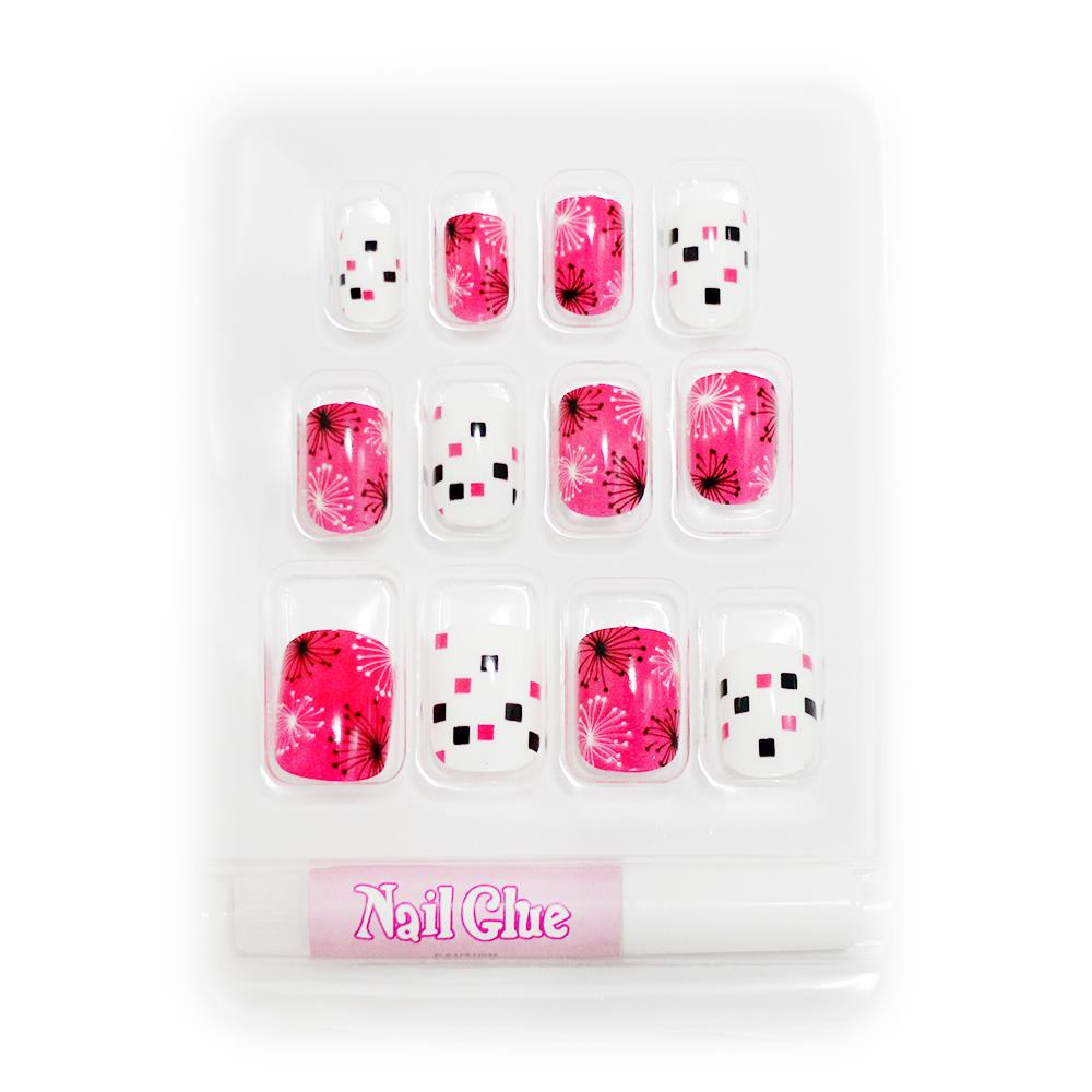 new for kids child girl diy false fake nails nail tips