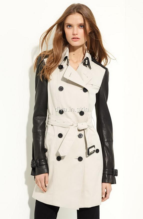 WOMENS LAMBSKIN LEATHER LONG WINTER MILITARY TRENCH COAT JACKET