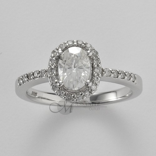 1 25 ctw Oval Moissanite Thin Band Pave 1 1 4 ct Solitaire Engagement Ring