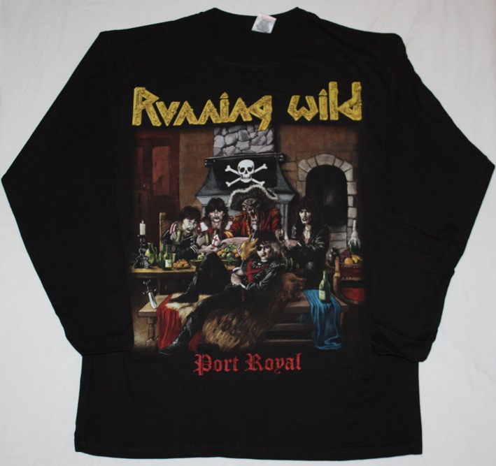 RUNNING-WILD-PORT-ROYAL88-X-WILD-GRAVE-DIGGER-NEW-BLACK-LONG-SLEEVE-T-SHIRT