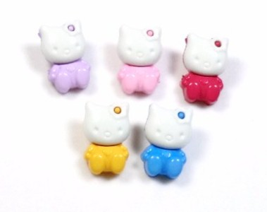 MTM Hello Kitty Novelty Buttons for Sewing, Crafting, Hair Clips   5