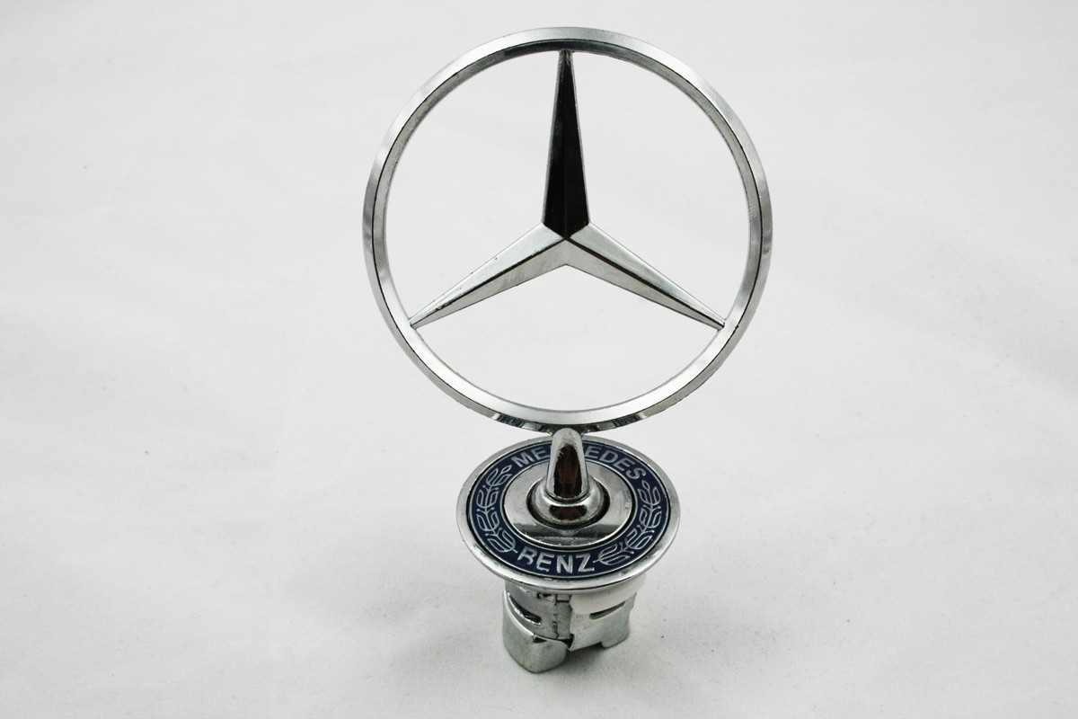 mercedes benz spring mounted badge bonnet emblem front