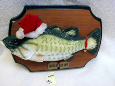 Gemmy big mouth billy bass wall christmas motion active for Talking fish on wall