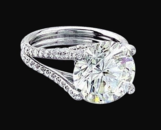 big 4 10 carat engagement ring white gold new fg11124