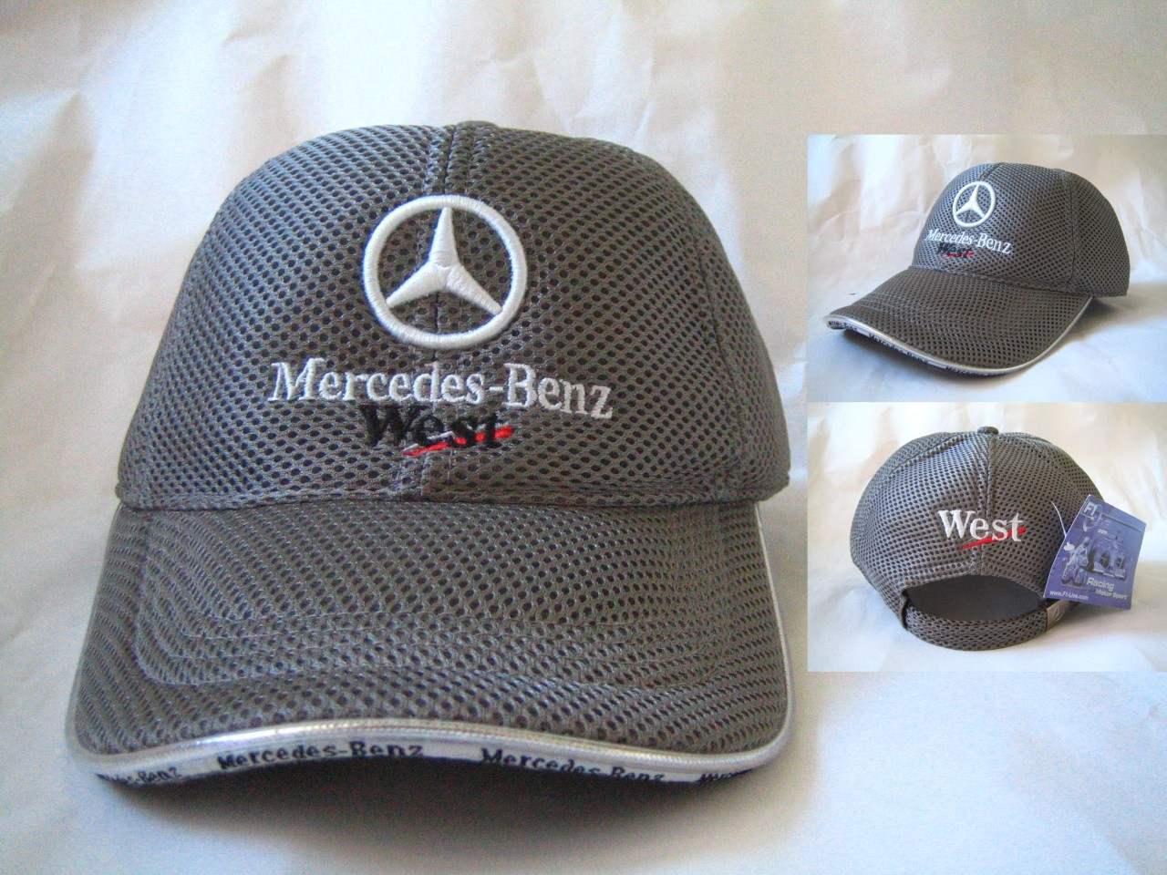 Wholesale Mercedes Benz Grey Cap Hat Polo Baseball Golf