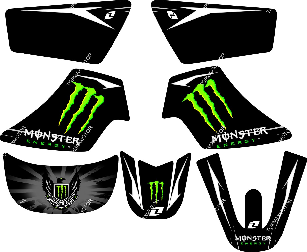 MONSTER GRAPHICS DECAL STICKERS YAMAHA PW50 PW 50