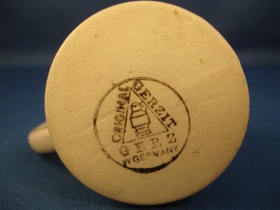 Vintage west german gerzit miniature stein gerz cobalt blue stoneware