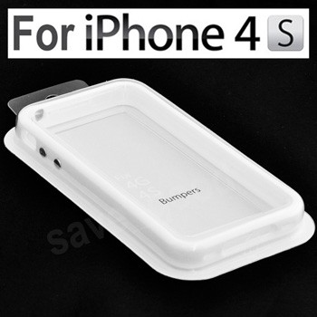 4X White Bumper Frame TPU Silicone Skin Case for iPhone 4S CDMA 4G W