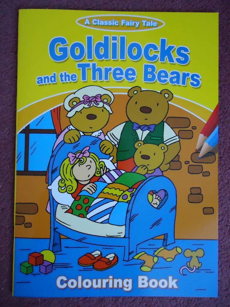 A4 FAIRY TALE COLOURING BOOKS -CINDERELLA GOLDILOCKS SLEEPING BEAUTY ...