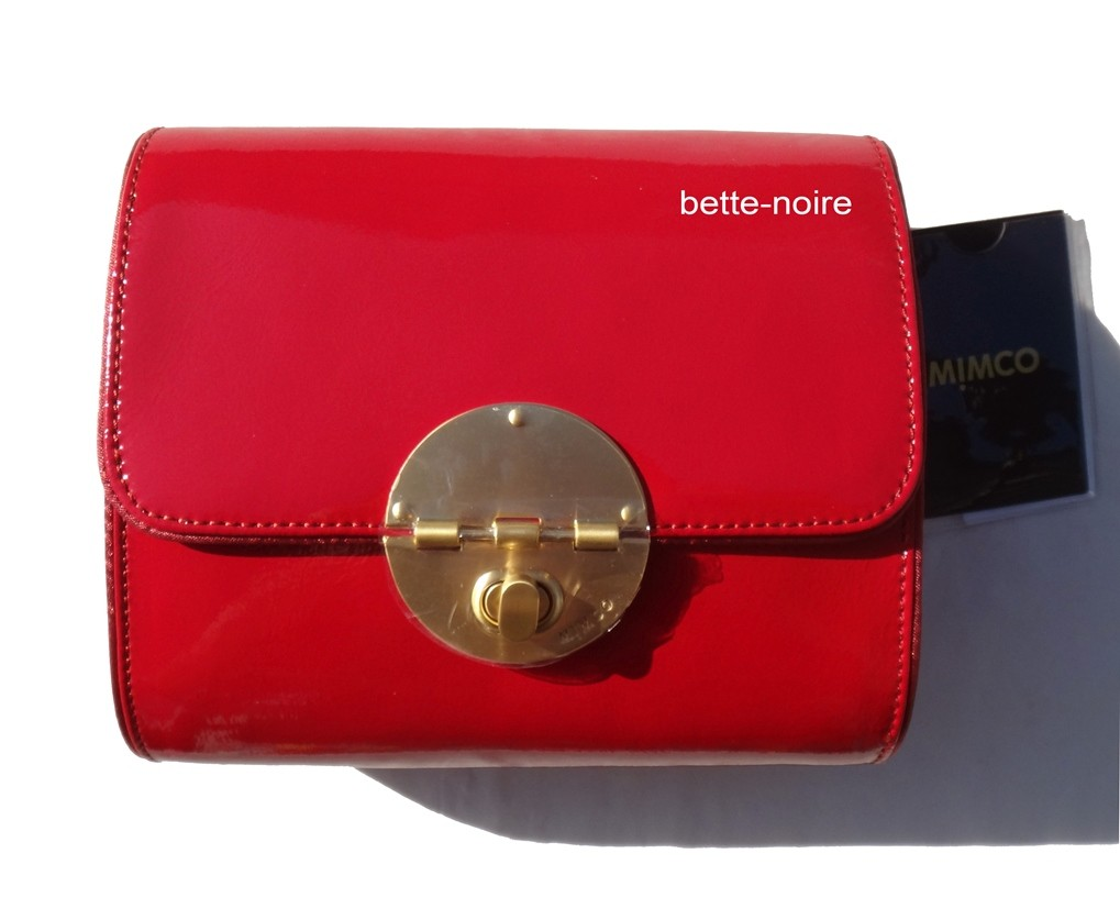 MIMCO-Square-Tux-Clutch-Scarlet-Leather-RRP-249-Evening-Bag-Handbag-Red