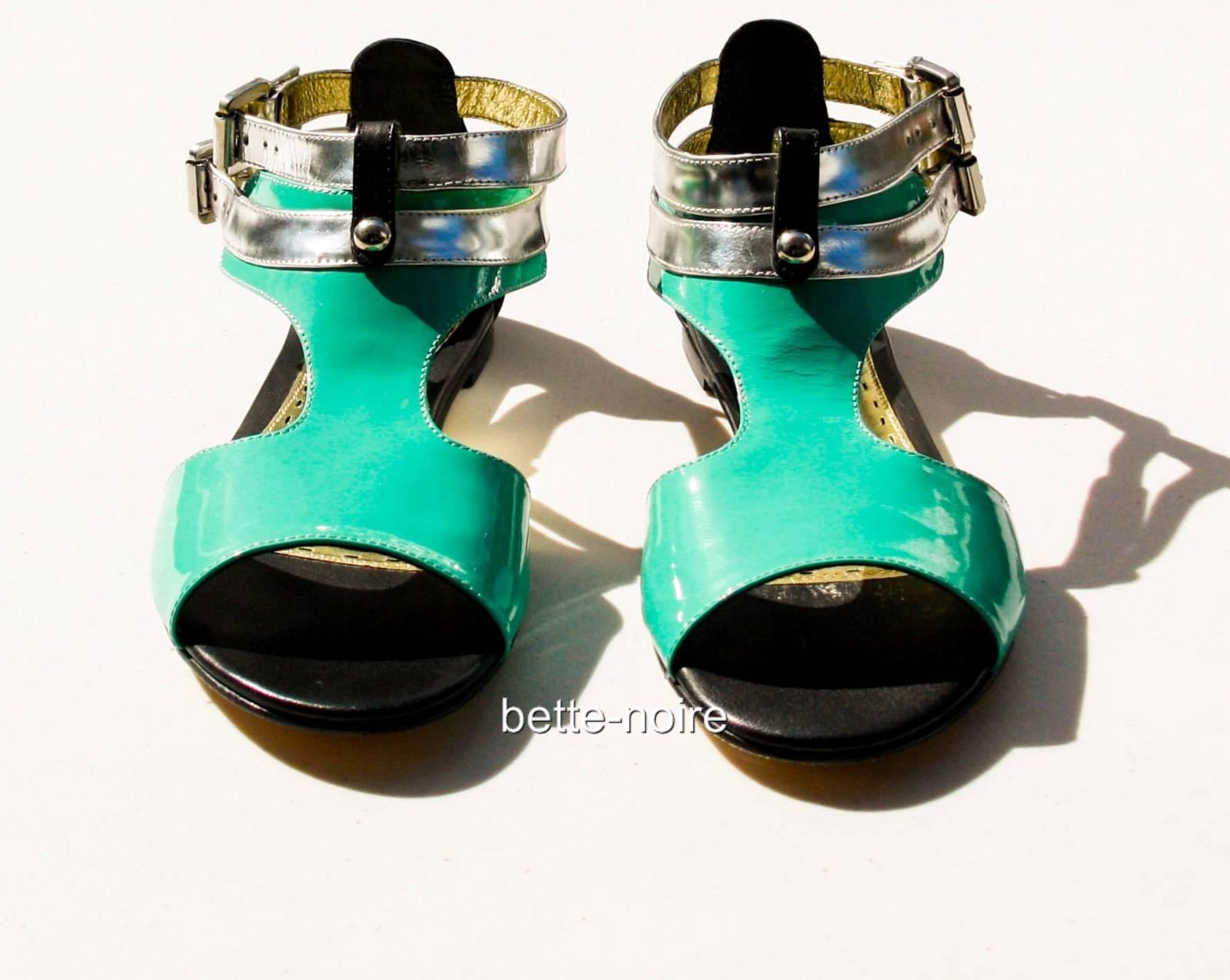 MIMCO-Tough-Romance-Sandal-Jade-Silver-Black-RRP-149-BNIB-Size-38-Shoes