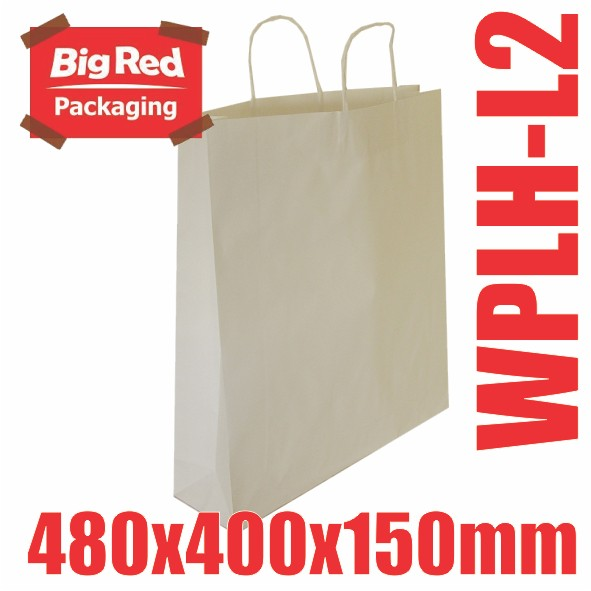 125-White-Kraft-Paper-Gift-amp-Shopping-Bags-Twist-Rope-Handle-480x400x150mm-BULK