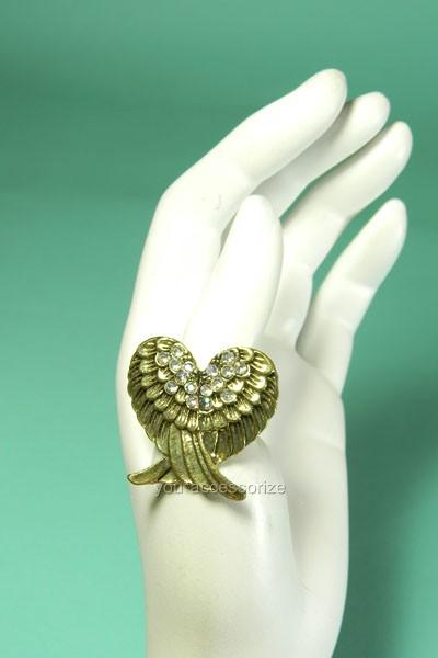 Stretch Adjustable Ring Rhinestone Crystal Free Expedited Shipping US