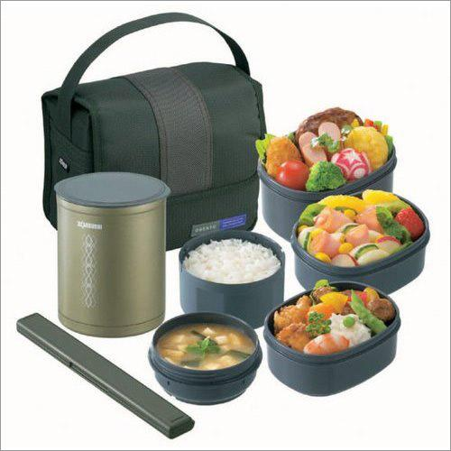 new zojirushi keep hot warm lunch box 5 containers soup. Black Bedroom Furniture Sets. Home Design Ideas