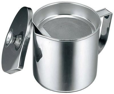 new kitchen stainless steel cooking frying oil pot with mesh tray strainer 2l ebay. Black Bedroom Furniture Sets. Home Design Ideas
