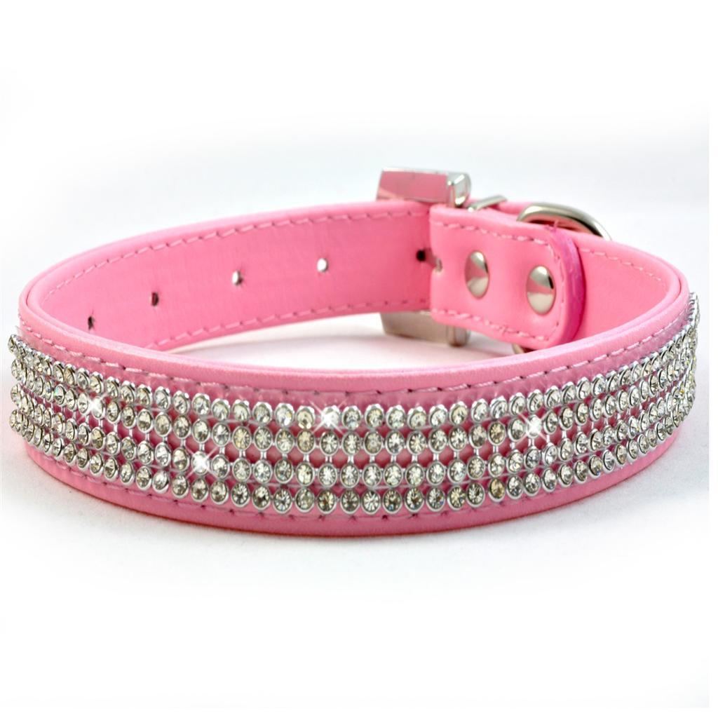Black And Pink Dog Collar