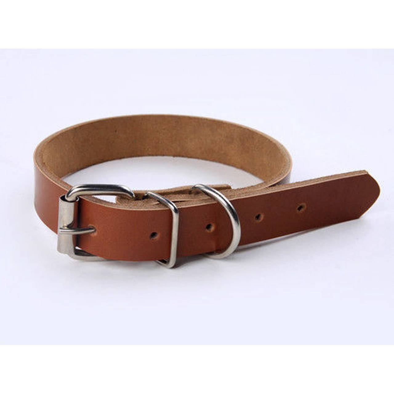 New Genuine Real Leather Dog Collar Free UK 1st Class P&P