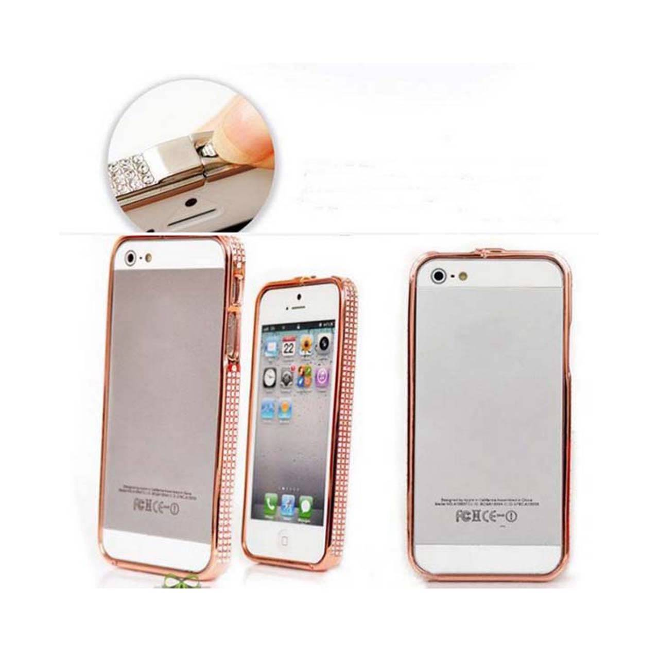 diamond deluxe metal aluminium rose gold case bumper for iphone 4 4s 5 5s ebay. Black Bedroom Furniture Sets. Home Design Ideas