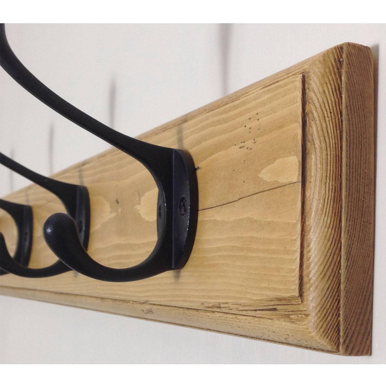 Narrow Vintage Style Wall Mounted Wooden Coat Rack eBay