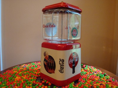 ... COCA COLA* Gumball & Candy Vending Machine Soda Fountain Sign | eBay