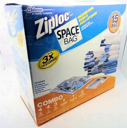 15 Ziploc Vacuum Storage Bags Original Space Saver Seal