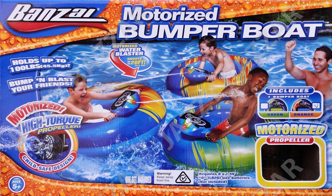 Kids Motorised Bumper Boat Inflatable Float Tube Water