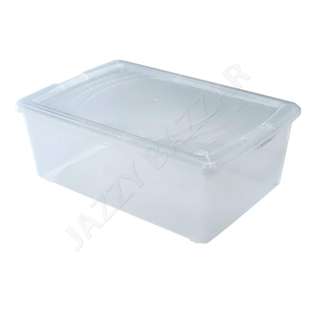 8Pack Clear Plastic Storage Container Boxes Shoe