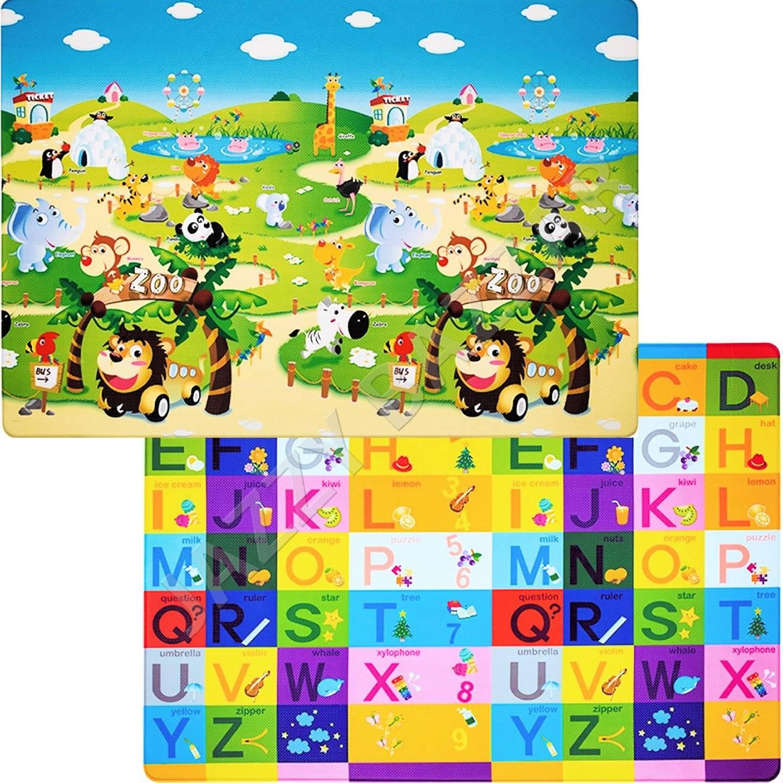 Baby Play Mat 1 9x1 3m Dwinguler Zoo Alphabet Waterproof