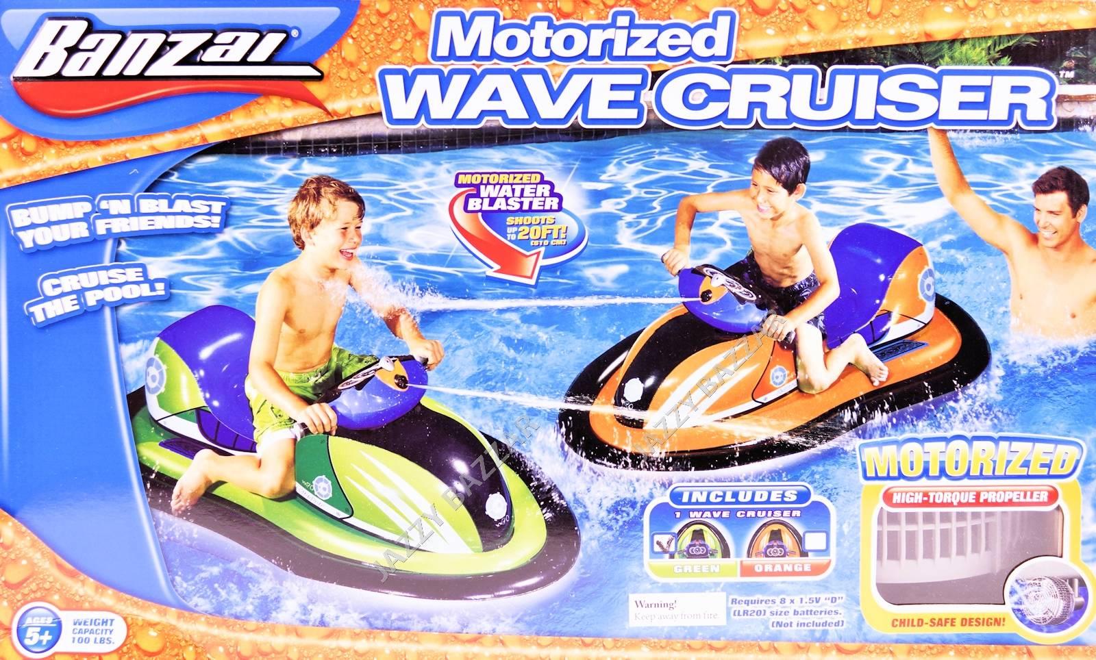 Banzai Motorised Wave Cruiser Inflatable Kids Jet Ski Pool