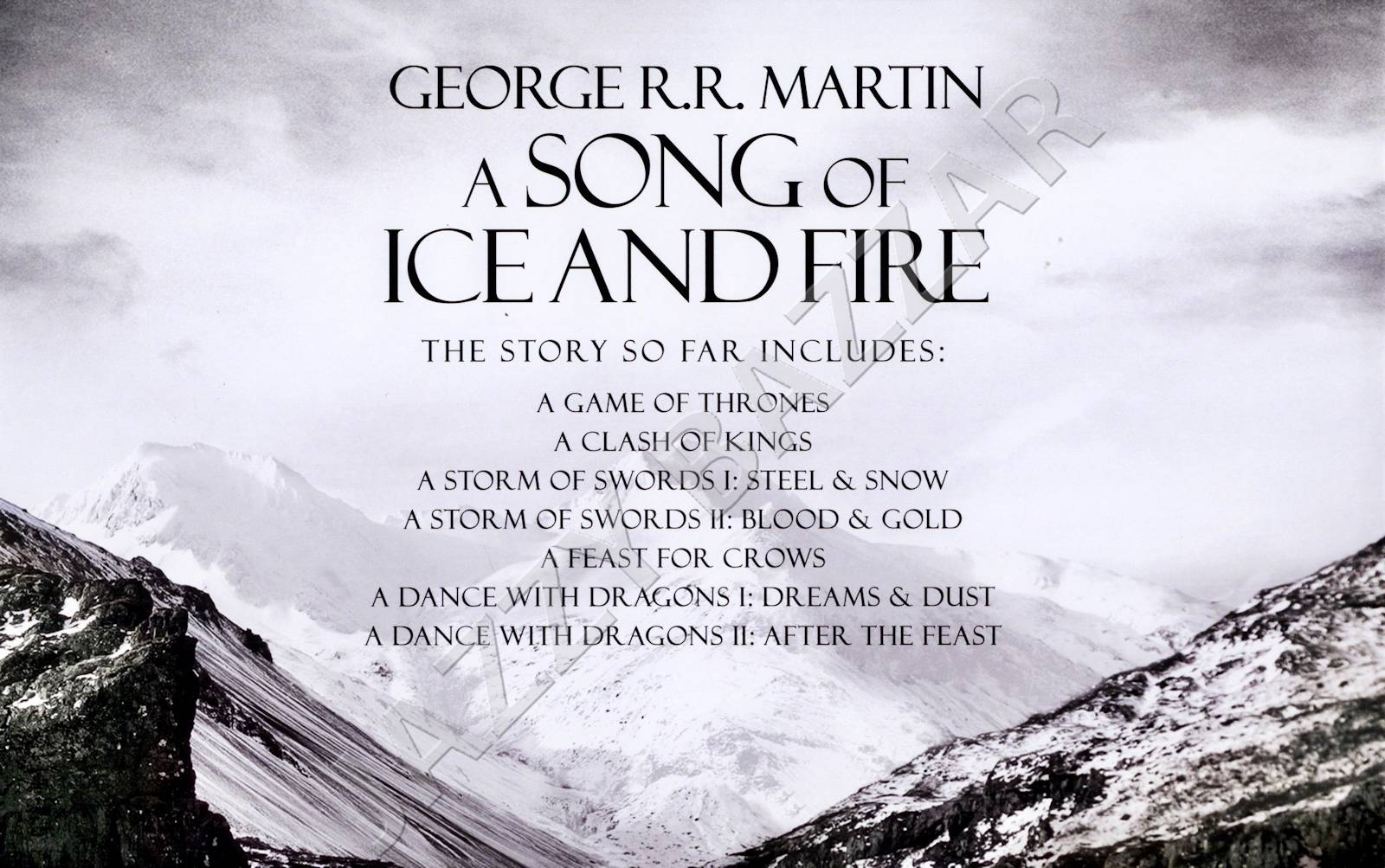 A Song of Ice and Fire (7 Volumes) New Paperback Book George R. R. Martin