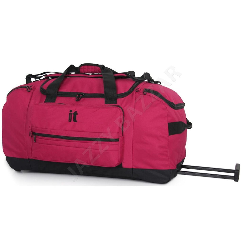 it luggage euston wheeled trolley rolling duffle bag wheels roller travel duffel ebay. Black Bedroom Furniture Sets. Home Design Ideas