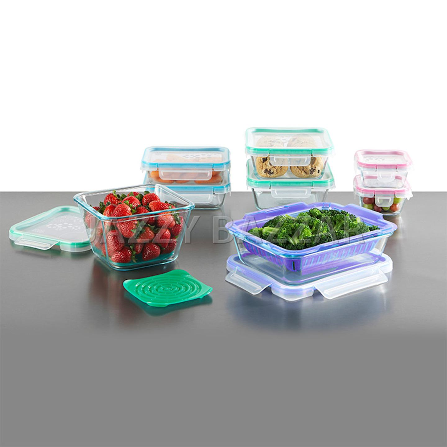 snapware pyrex glass food storage containers airtight. Black Bedroom Furniture Sets. Home Design Ideas