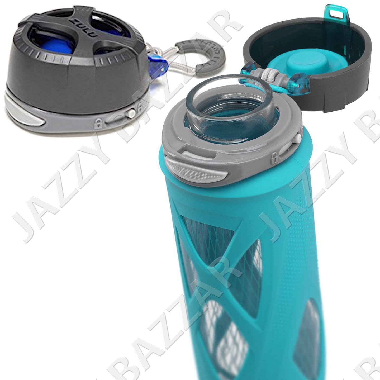 glass water bottle 2 zulu drinking drink bottles sports eco 590ml bpa bps free ebay. Black Bedroom Furniture Sets. Home Design Ideas