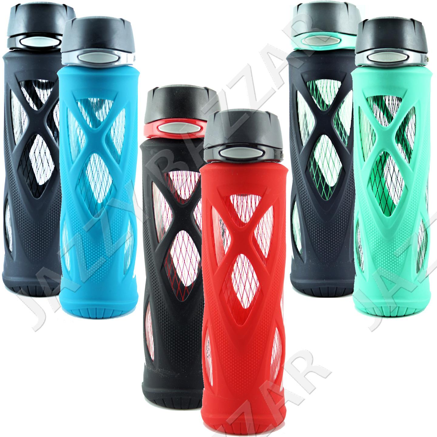 glass water bottle 2 zulu drinking drink bottles sports eco 590ml bpa bps free ebay. Black Bedroom Furniture Sets. Home Design Ideas