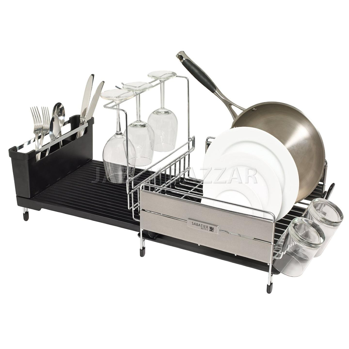 Sabatier Expandable Stainless Steel Dish Drying Rack