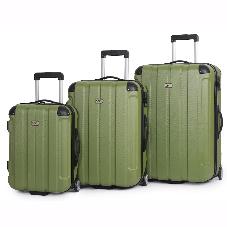 3pc it luggage liv centurion suitcase trolley set hard. Black Bedroom Furniture Sets. Home Design Ideas