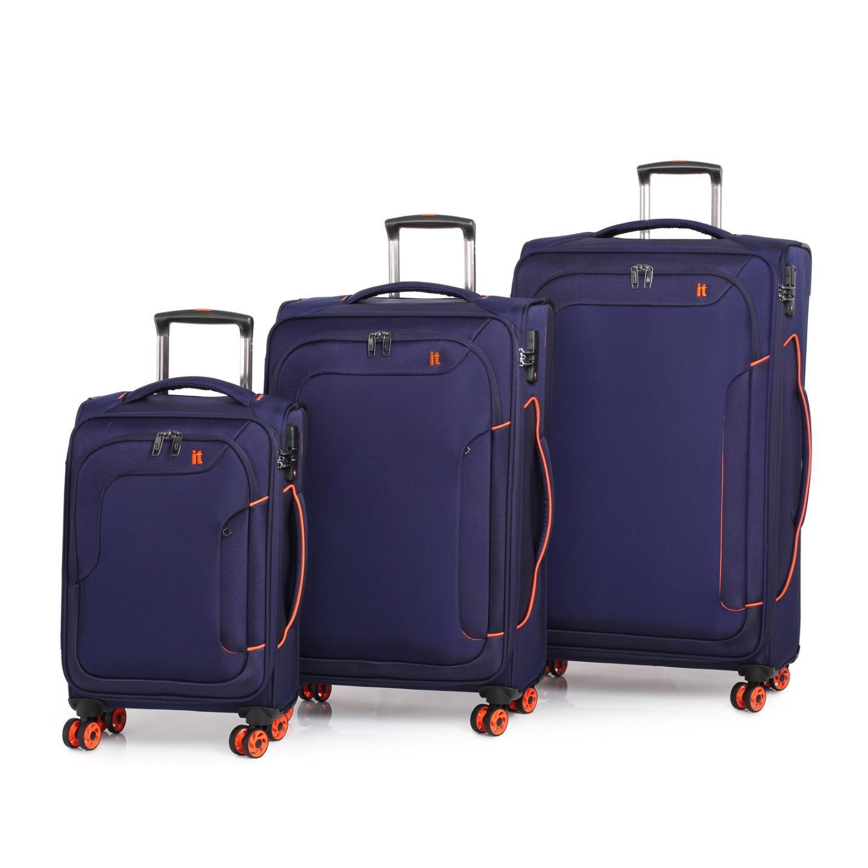 it luggage megalite bold 3 trolley suitcase set tsa travel. Black Bedroom Furniture Sets. Home Design Ideas