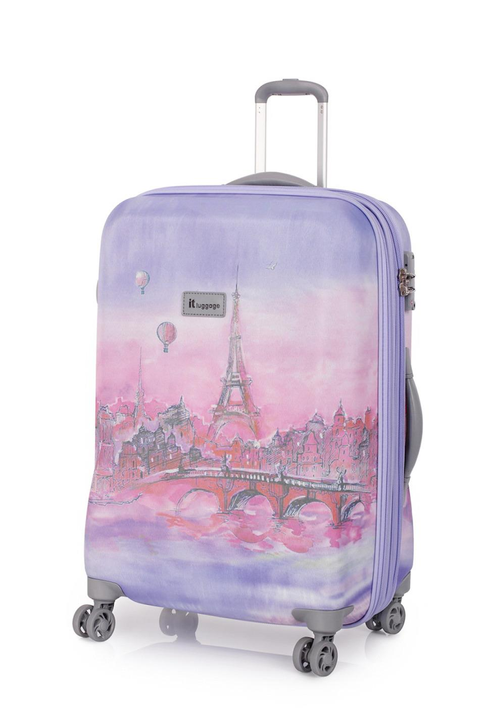 it luggage paris balloons 3 trolley suitcase set travel cabin bag lightweight. Black Bedroom Furniture Sets. Home Design Ideas
