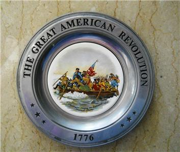 American Bicentennial Pewter Plate Collection Set Of 6 Ebay