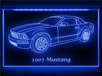 AC094 Y 2007 Mustang Convertible LED Light Sign #0: tp