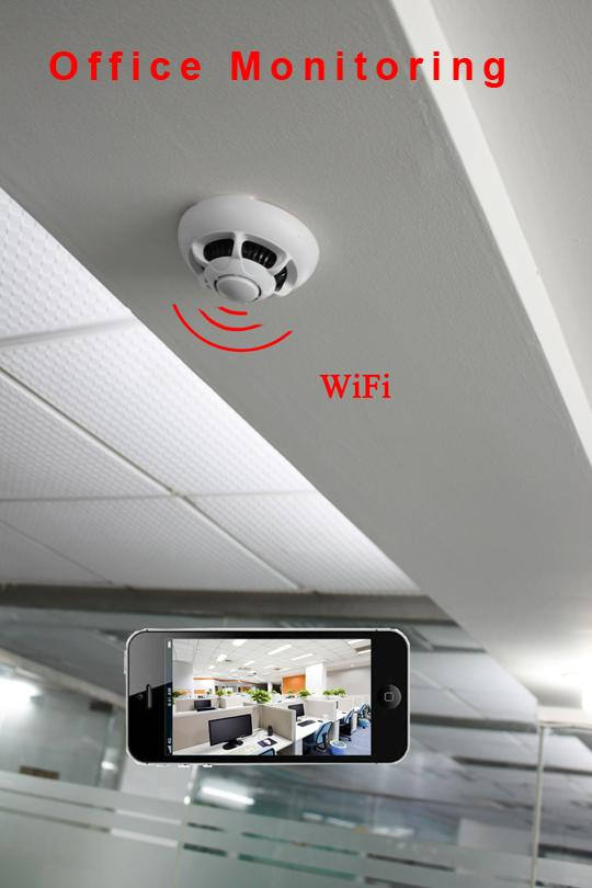 spy wifi smoke detector wireless ip camera hidden convert nanny cam video record ebay. Black Bedroom Furniture Sets. Home Design Ideas